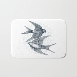 Two Swallows Bath Mat