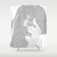 notorious big Shower Curtains featuring Notorious B.I.G. by Ricky Riccardo