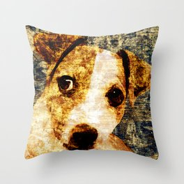 「sit」Jack Russell Terrier Throw Pillow