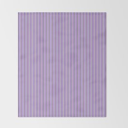 Purple Pinstripes Throw Blanket