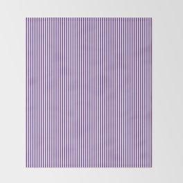 Purple Pinstripes Throw Blanket