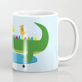 Crocodile and skateboard Coffee Mug