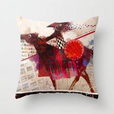 Cavaliere errante Throw Pillow