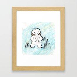 Wampa in Adorable Framed Art Print