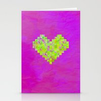 valentines Stationery Cards featuring Neon Valentines by Fimbis
