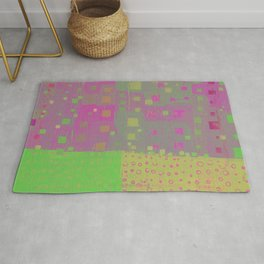 City Grid in Orchid-Lime Rug