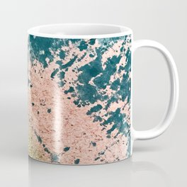 River: a minimal, abstract mixed-media piece in pink, teal and gold Coffee Mug