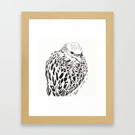Gyrfalcon (Falcon) Framed Art Print