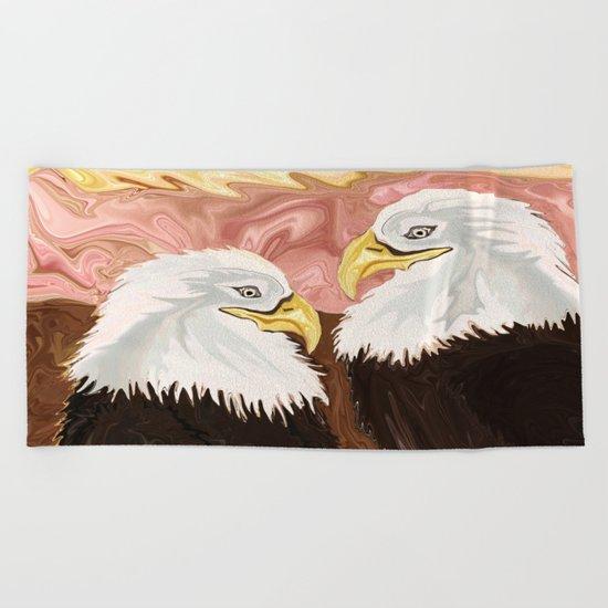 Freedom's Princess Bald Eagles Beach Towel