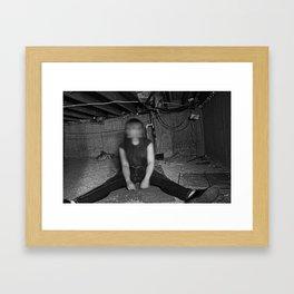 Not Myself Framed Art Print