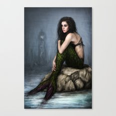 Mermaid and the Lighthouse Canvas Print