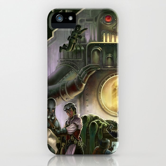 Steam Dungeons and Electric Treasure iPhone Case