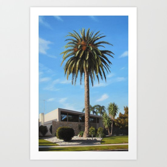 Krisel House With Queen Palm Art Print