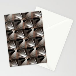 Metal Armour Screen Pattern Stationery Cards
