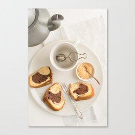 Slice of marble cake Canvas Print