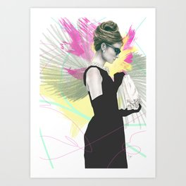 Breakfast at Tiffany's Fashion Illustration Art Print