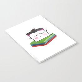 MyHappySquare likes books Notebook