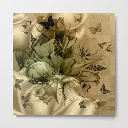 Wonderful floral design Metal Print