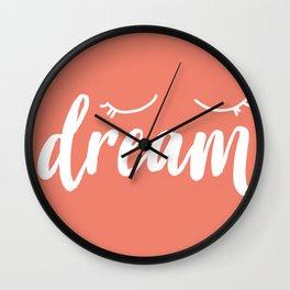 Coral Dream Wall Clock