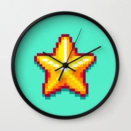 Pixel Star Wall Clock