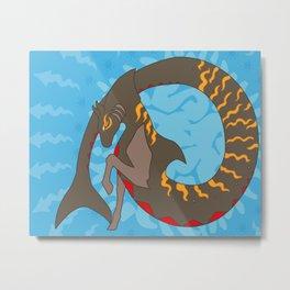 Tiger Shark Hippocampus Metal Print
