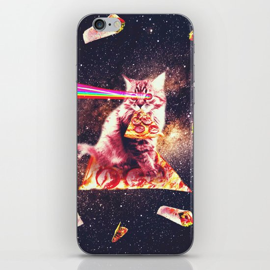 Outer Space Pizza Cat - Rainbow Laser, Taco, Burrito by randomgalaxy