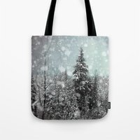 snow Tote Bags featuring Snow by Pure Nature Photos