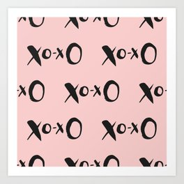 Kisses XOXO Millennial Pink Art Print