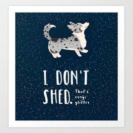 Corgi Glitter - Cardigan Welsh Corgi Art Print