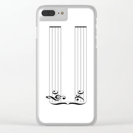 Blank Music Stave Clear iPhone Case
