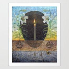 I AM the Resurrection and the Life Art Print