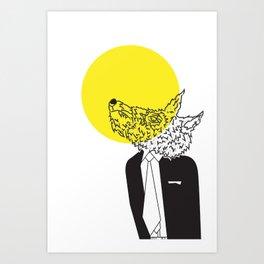 Wolf in Men's Clothing 2 Art Print