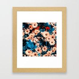 Colourful Daisies Pattern Framed Art Print