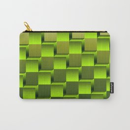 Soft green gradient cubes Carry-All Pouch