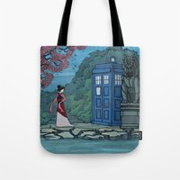 hallion Tote Bags featuring Cannot Hide Who I am Inside by Karen Hallion Illustrations