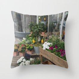 At the Florists II Throw Pillow
