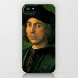 "Albrecht Dürer ""Portrait of a Young Man"" - Palazzo Rosso, Genoa iPhone Case"