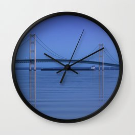 The Mackinac Bridge & the Great Lakes Freighter Wall Clock