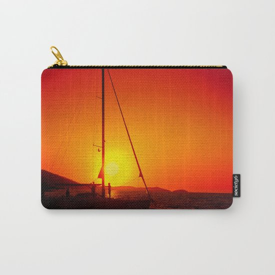 A sailboat at sunset Carry-All Pouch