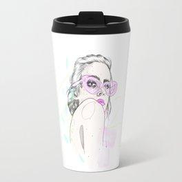 Summer Shades Fashion Illustration Travel Mug