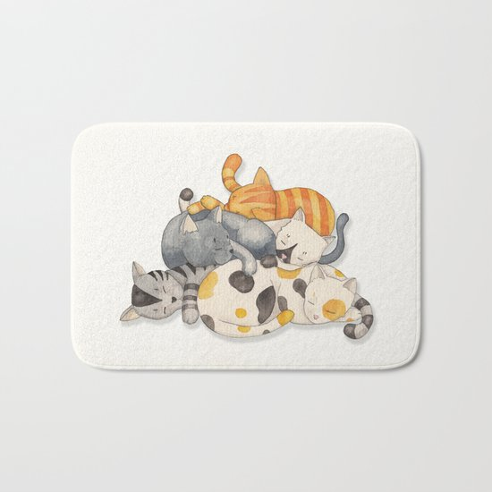 Cat Nap (Siesta Time) Bath Mat