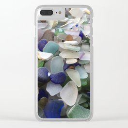 Sea Glass Assortment 5 Clear iPhone Case