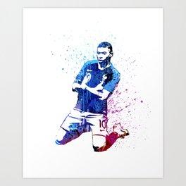 Sports art - France football player Art Print