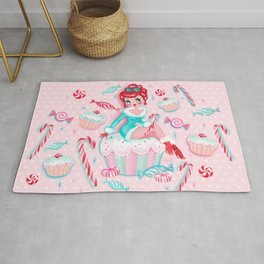 Christmas Cupcakes and Candy Cutie Rug