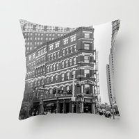 building Throw Pillows featuring BUILDING by Stephanie Bosworth