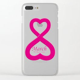 """Women March """"8"""" Clear iPhone Case"""