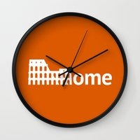 rome Wall Clocks featuring Rome by Flat Design