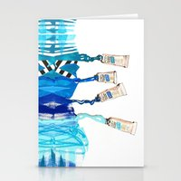 blues Stationery Cards featuring Blues by ST STUDIO