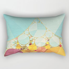 Travelling Show Abstract Circus Carnival Tent Rectangular Pillow