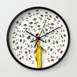 Paris Summer | The Flower Girl Wall Clock